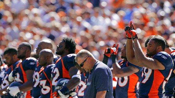 Denver Broncos teammates remember McKinley.