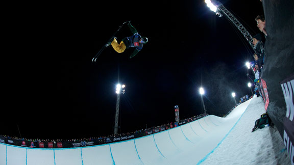 Justin Dorey competing at the X Games in Tignes, France.
