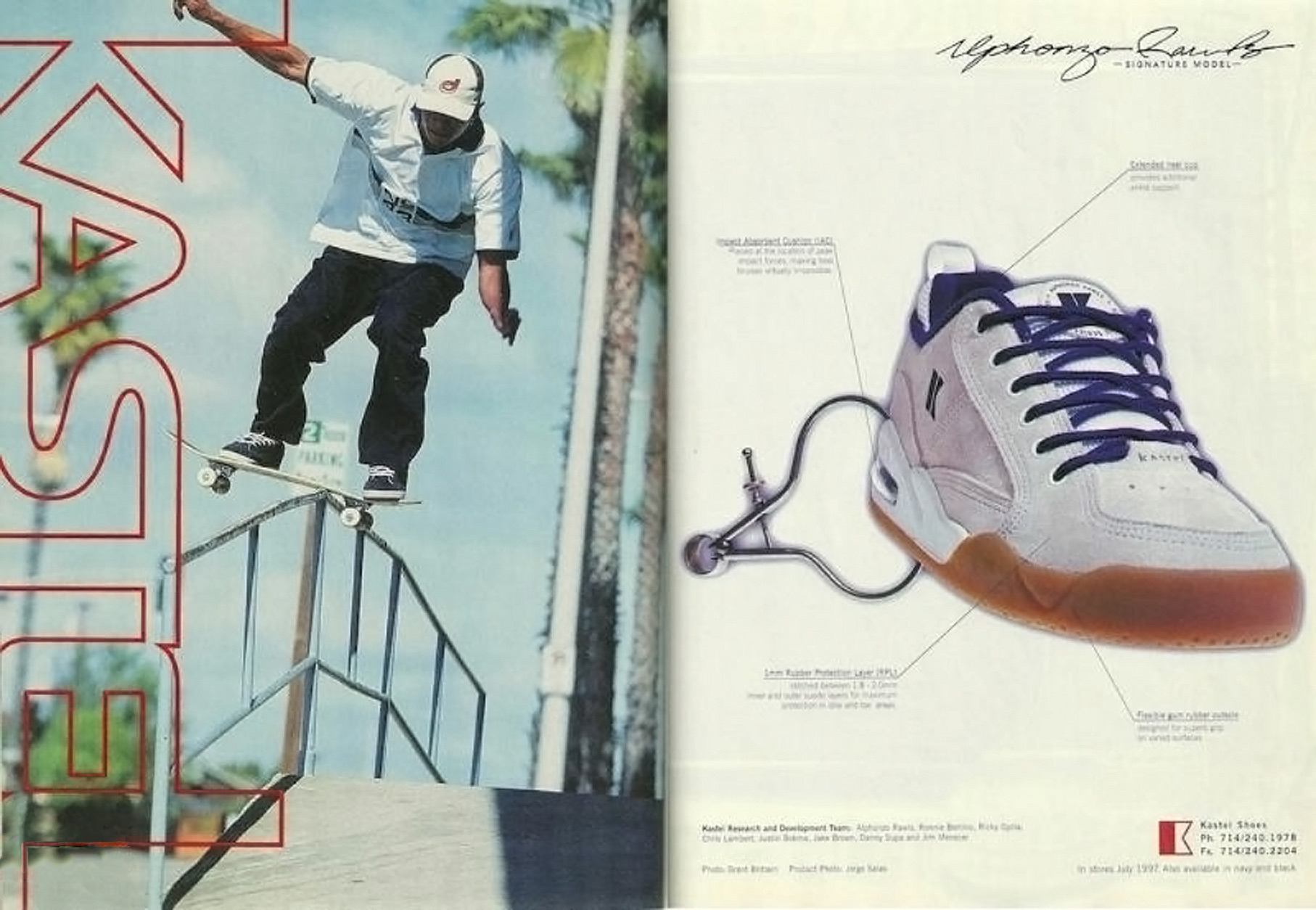 Alphonzo Rawls signature model, Kastel Shoes, 1996