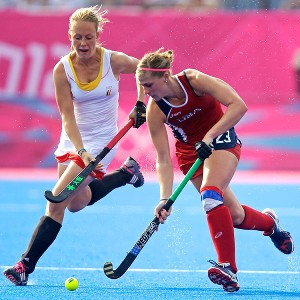 Katelyn Falgowski ping-ponged between international competition and her high school field hockey team and said the latter provided an important sense of normalcy.