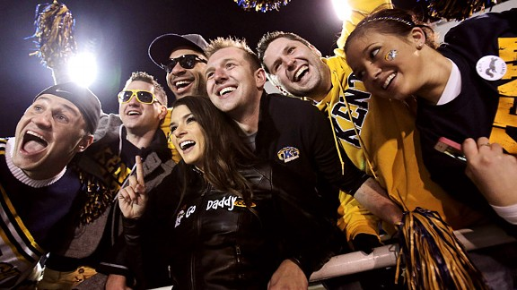 Kent State fans, Danica Patrick in their midst, get fired up for the GoDaddy.com Bowl on Sunday.