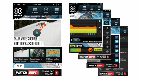 X Games mobile app