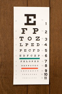 Without her contact lenses, Danica would have a hard time seeing the big letter on an eye chart, which makes for tough navigating during middle-of-the-night bathroom trips.