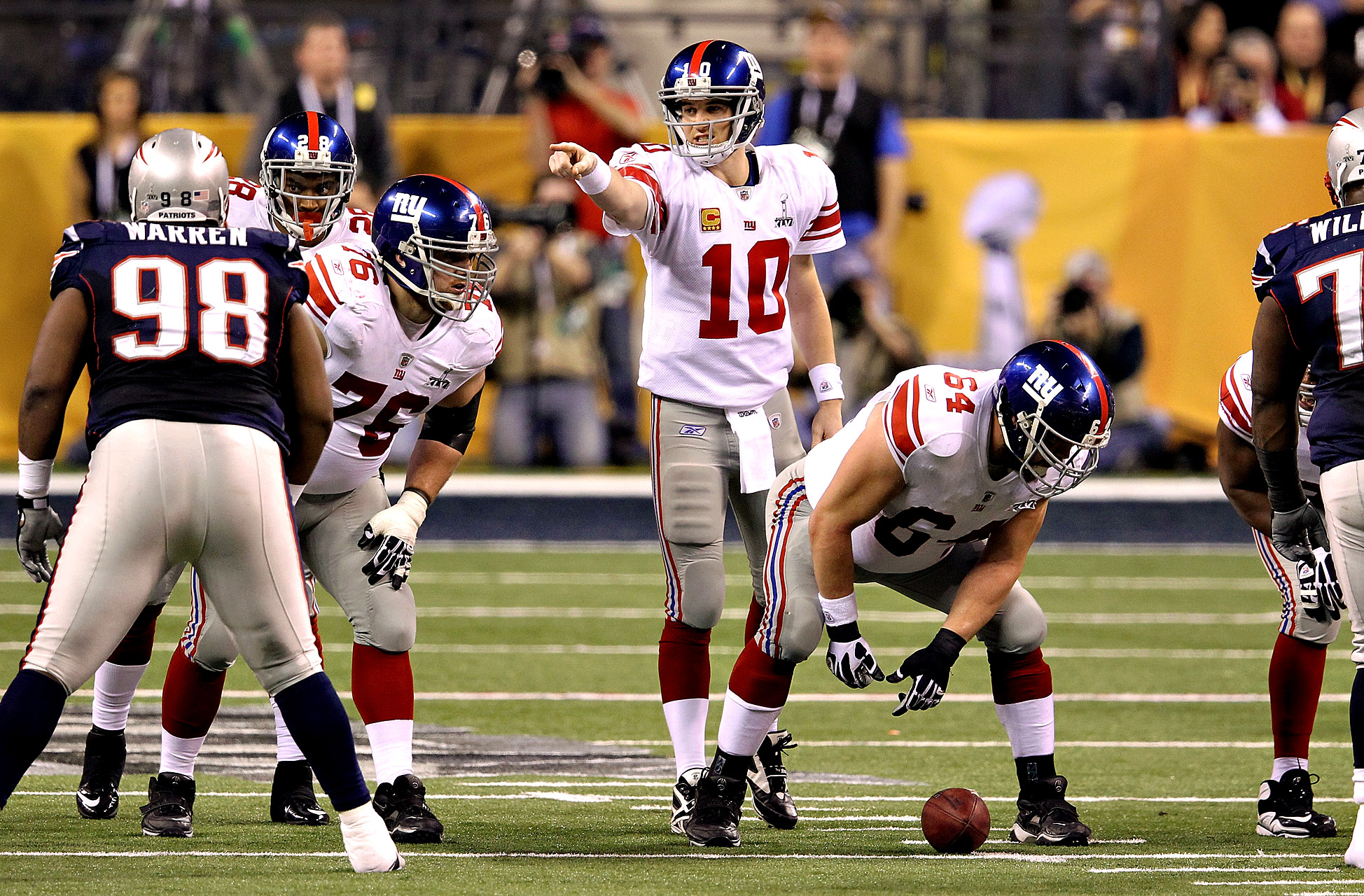 Eli Manning - Super Bowl XLVI (30/40, 296 yards, 1 TD)