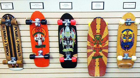The Morro Bay Skateboard Museum has all the classics like these early Dogtown boards.