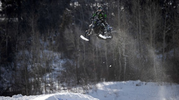 Tucker Hibbert earned the first six-peat in X Games winter sports history in Snowmobile SnoCross.