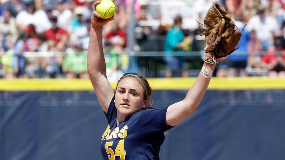 Jolene Henderson went 38-4 with a 1.29 ERA and 332 strikeouts in 282.1 innings as a junior.