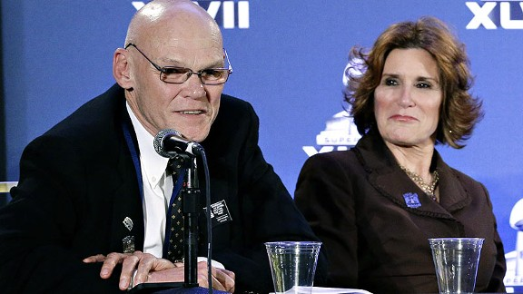James Carville and Mary Matalin are part of New Orleans' Super Bowl host committee.
