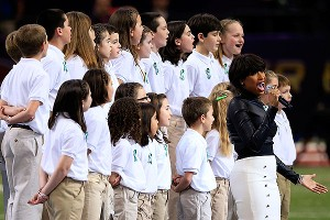 Jennifer Hudson and the Sandy Hook Elementary School Chorus provided a very moving performance.