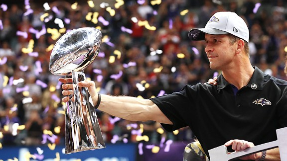 Can John Harbaugh and the Ravens maintain their grip on the Lombardi Trophy?