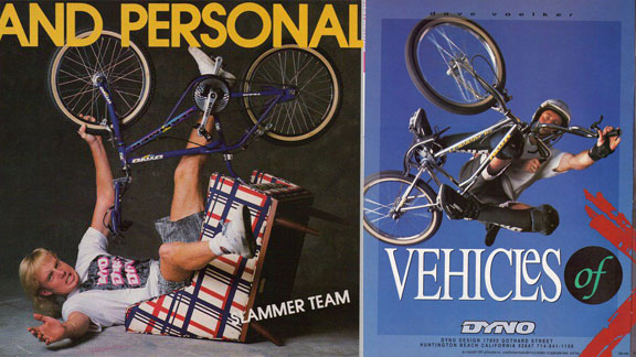 Voelker as seen in vintage BMX ads from Dyno in the late '80s and early '90s.