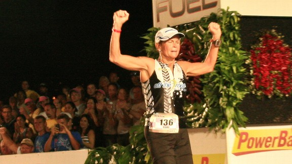 Teri Griege's cancer diagnosis did not stop her from completing the Kona Ironman.