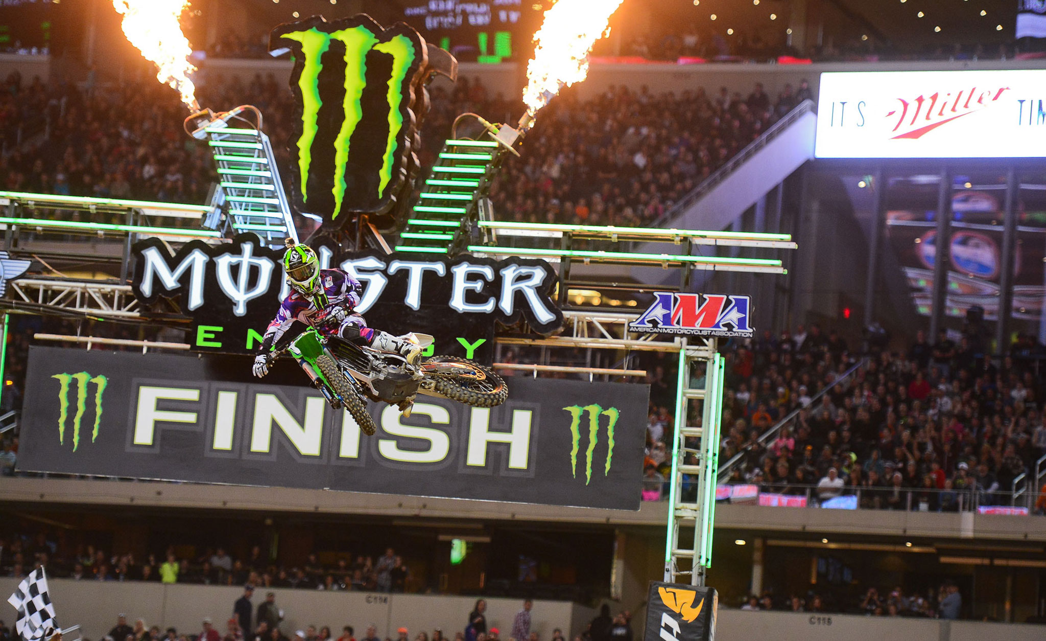 Ryan Villopoto won his third Supercross victory of the season in Arlington.