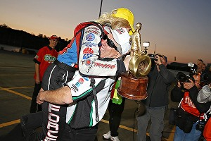 No one was more excited than Courtney Force after the Funny Car final at Pomona -- well, other than papa John Force.