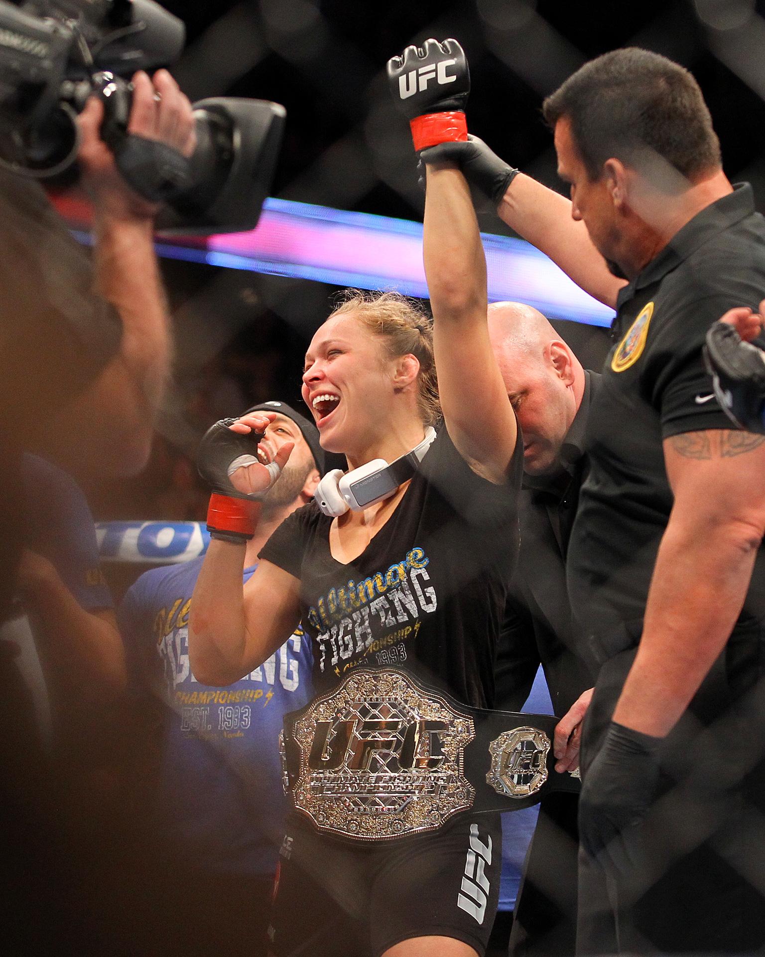 Ronda Rousey and Liz Carmouche