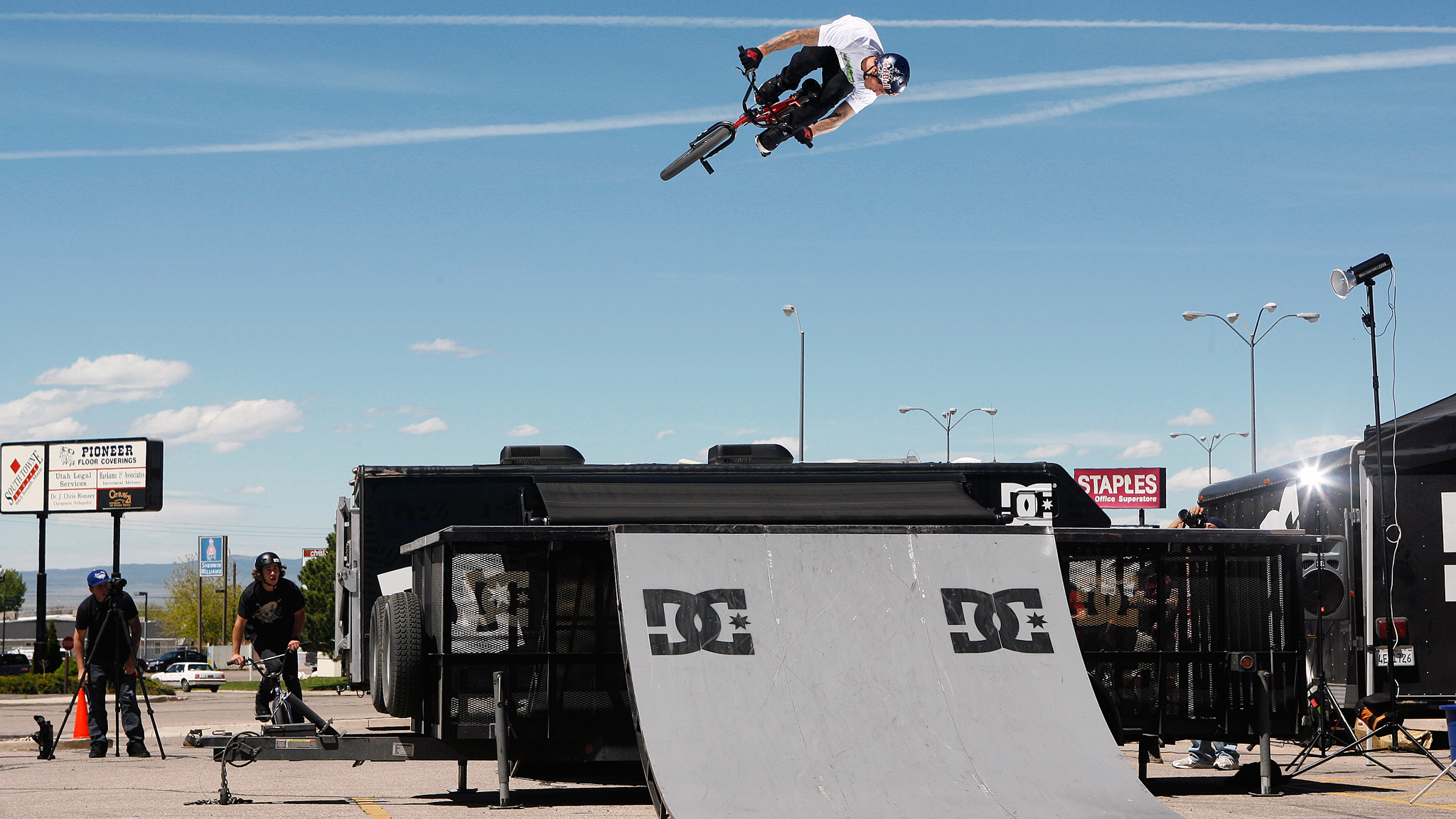 DC shoes team rider Corey Bohan on the DC Roughin' It tour in 2011.