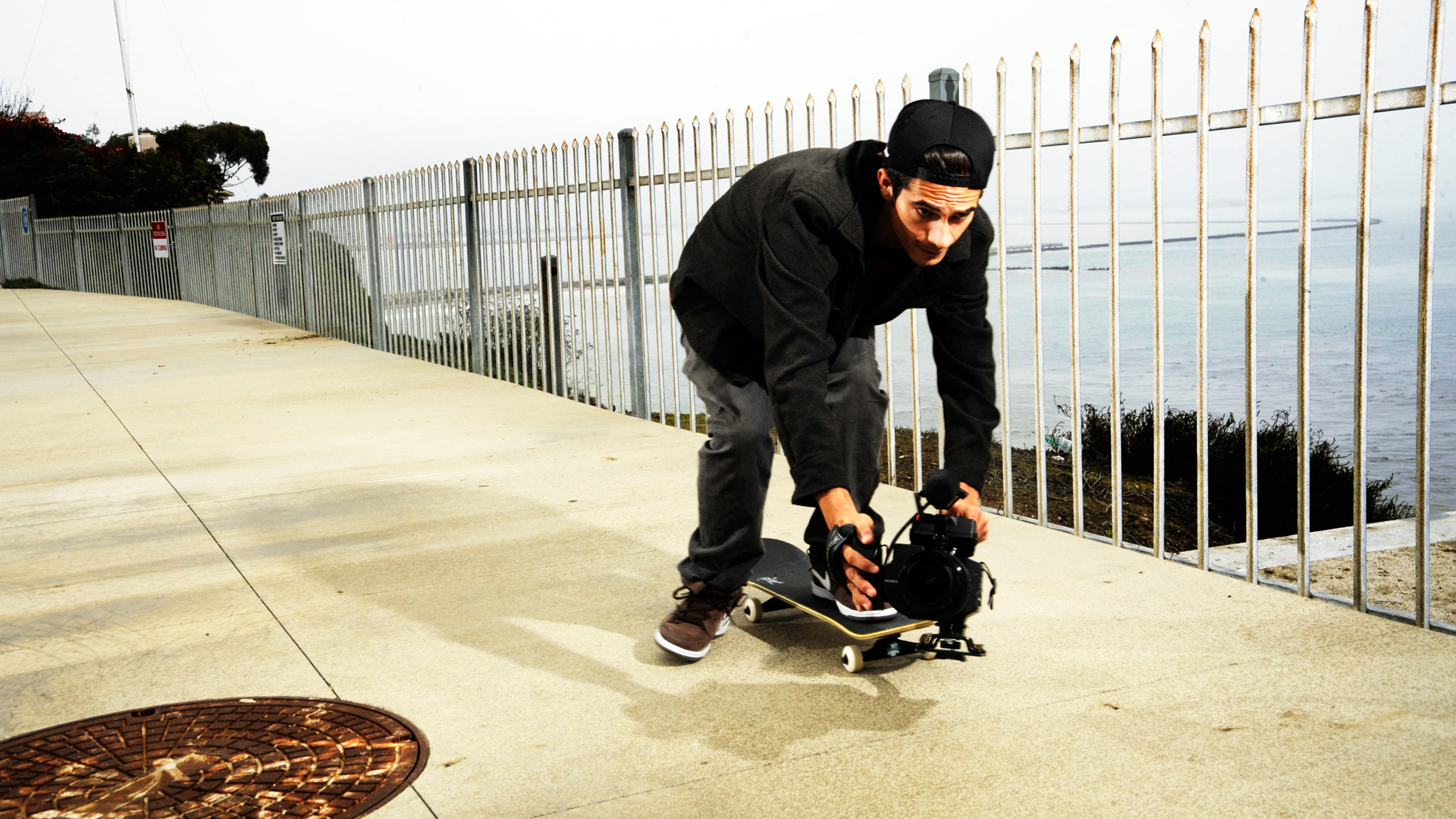 Nigel Alexander in his pursuit of daily skate footage.