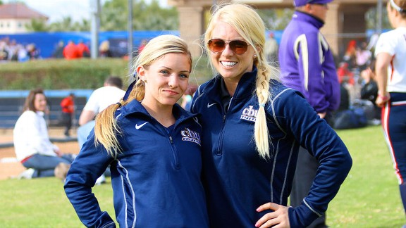 When Jordan Mowatt, left, found out her future school had an assistant coach position open, she convinced her older sister, Taryne, to apply.