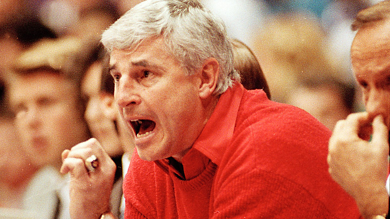 Legendary Indiana and Texas Tech coach Bob Knight isn't known for a mild-mannered nature. While there are a handful of incidents to choose from here, Knight is perhaps best known for the time he threw a chair on the court because he was irate over a foul call. He was given a one-game suspension and was placed on a two-year probation period by the Big Ten. (Photo: John Swart/AP)