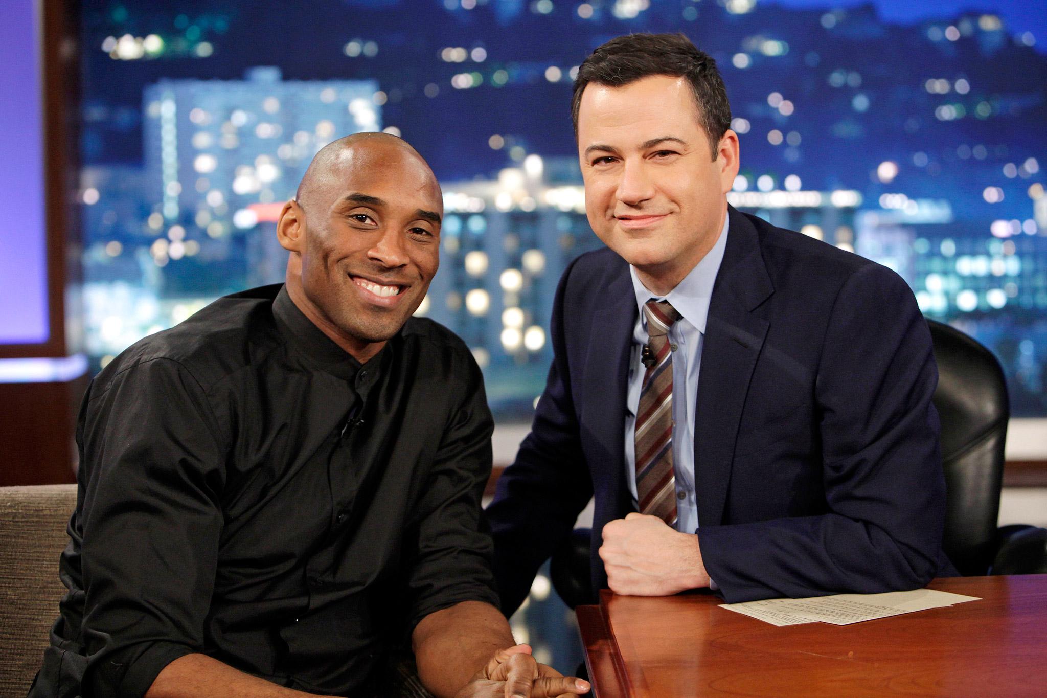 Kobe Bryant and Jimmy Kimmel