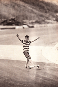 Woody Woodward photo from Skateboarder Magzine, Vol. 1, No. 4, 1965.