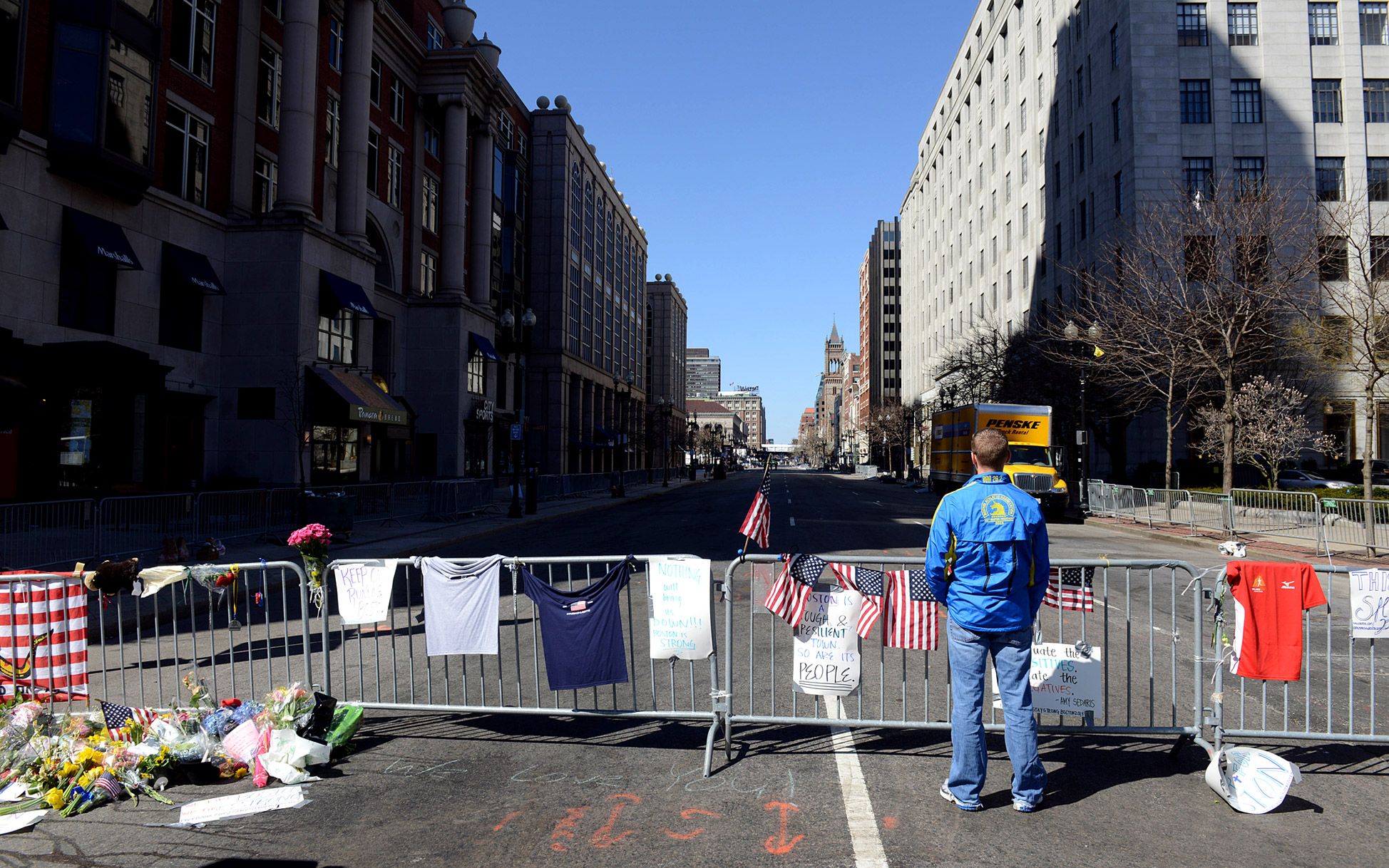 Boylston Street Barricade