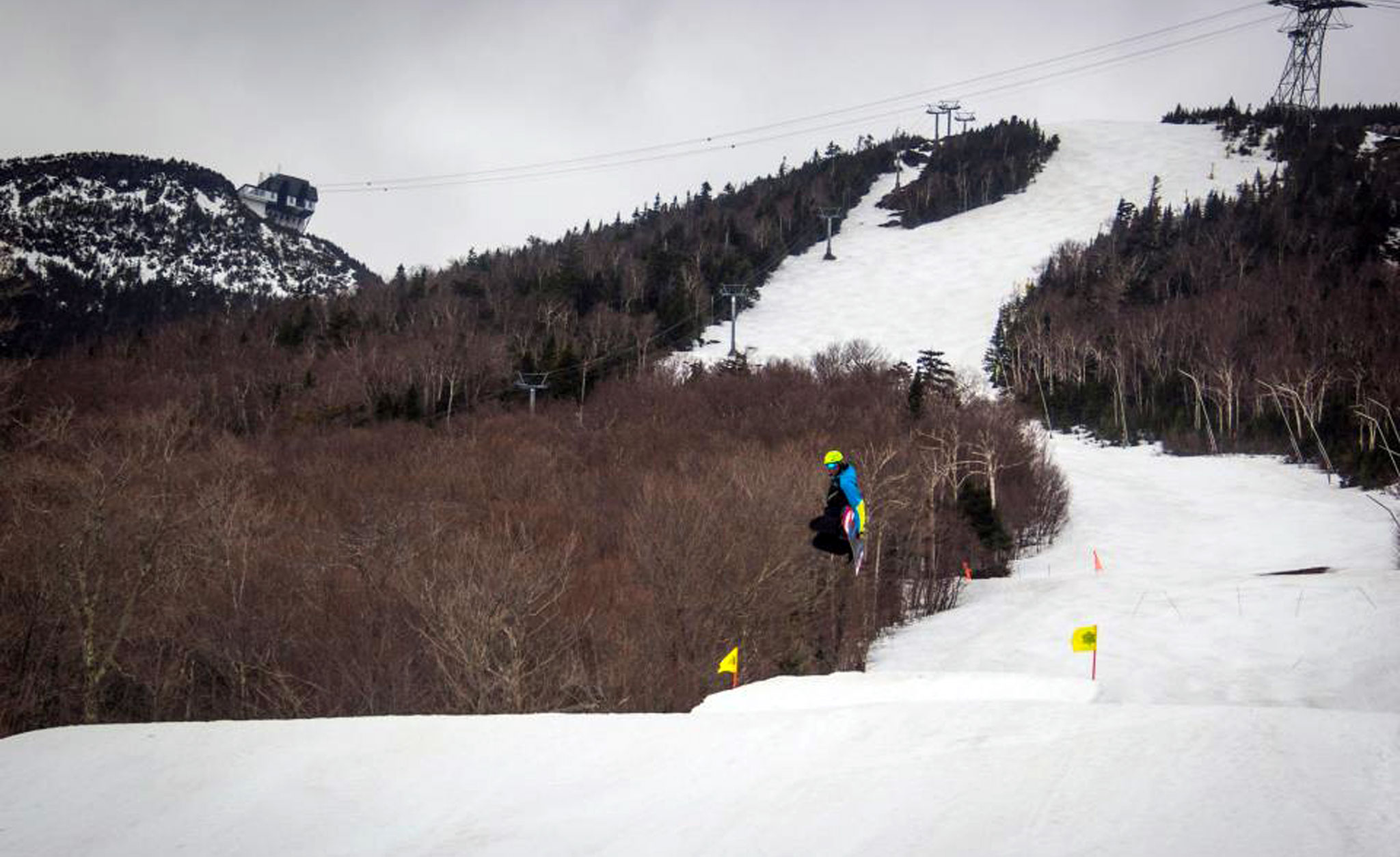 Jay Peak will remain open weekends through May 5, with tentative plans to extend the season if snow conditions permit. The terrain park will stay open through May 5 as well. And it's all at a discounted rate: Spring lift tickets have been lowered to 55.