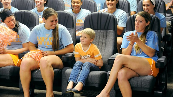 Averi Ramsey, who has been battling leukemia since March 2012, is now an official member of UT's softball team.