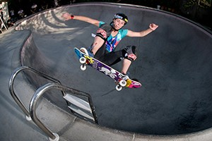 Knoop will be a force to contend with when Women's Skateboard Park makes its X Games debut in Barcelona.