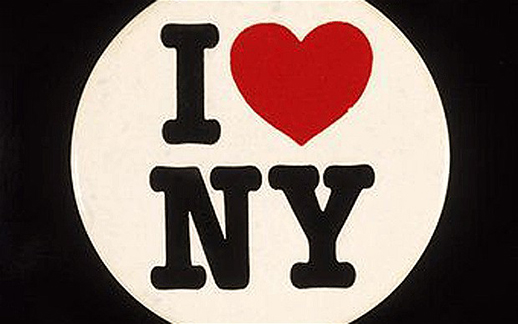 The original I love NY logo.