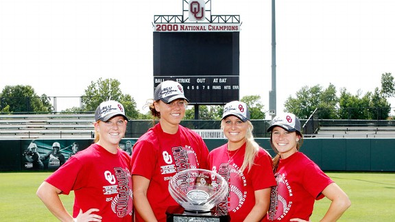 Michelle Gascoigne, Keilani Ricketts, Jessica Shults and Brianna Turang helped celebrate a conference championship last year and, as seniors, hope to do so this year, too.