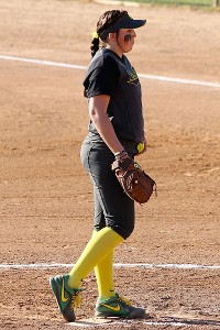 Oregon freshman pitcher Cheridan Hawkins has been dependable and reliable.