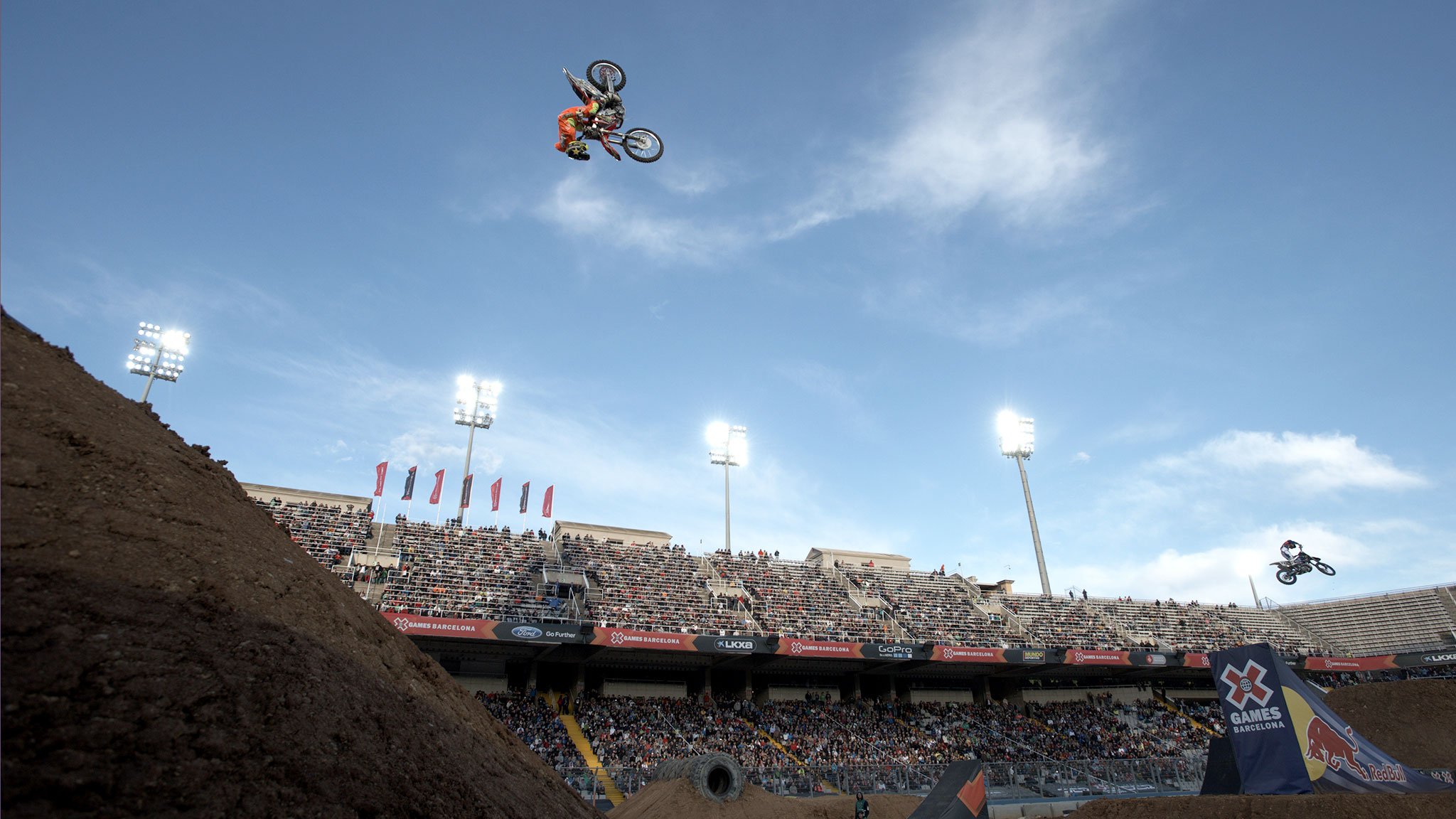 Moto X Freestyle was canceled because of high winds, but the athletes put on a show for the fans who stuck around.