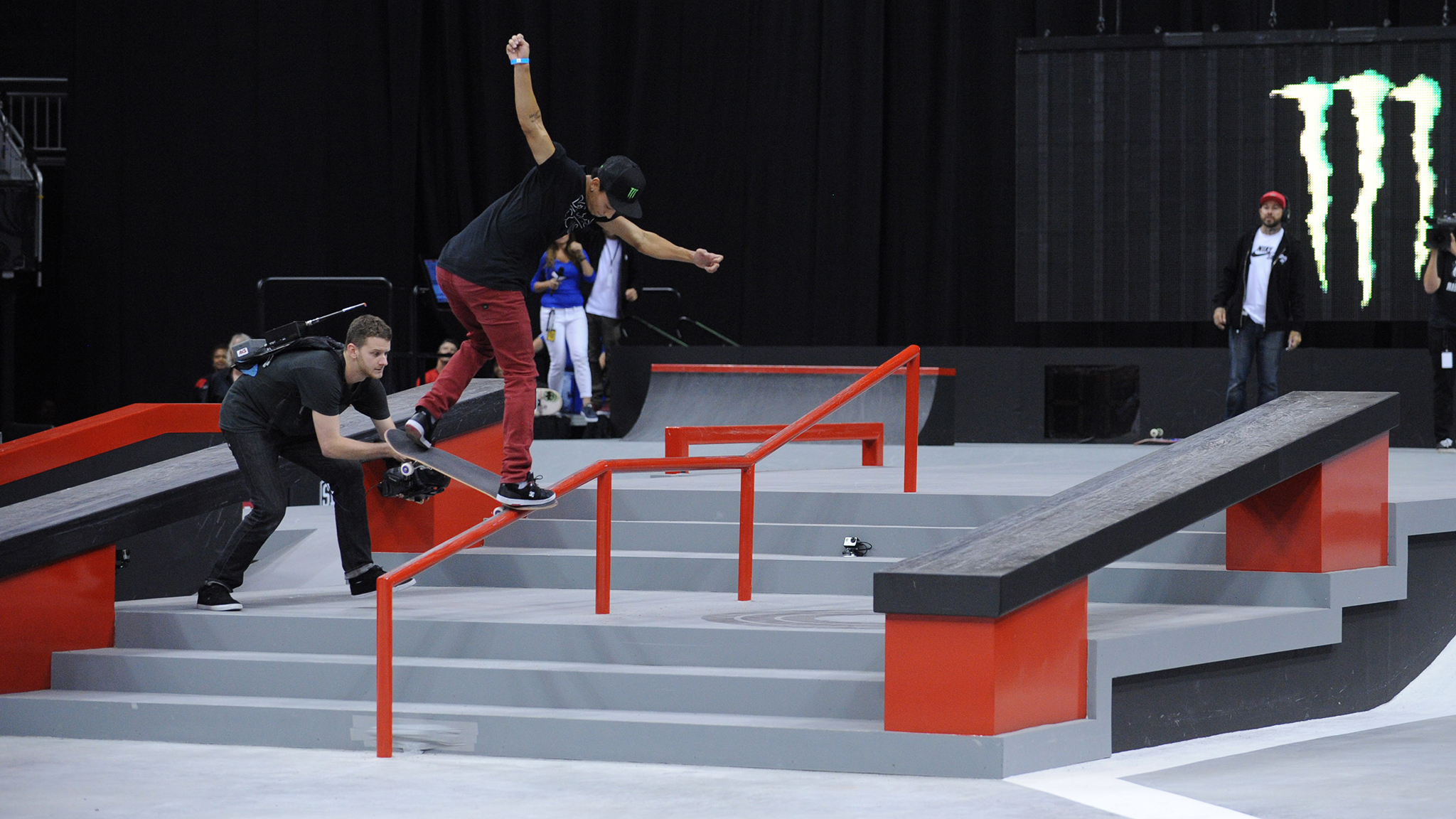 Nyjah Huston skates to his third consecutive Street League victory of the season in Kansas City.