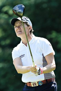 Catriona Matthew of Scotland came out of nowhere to finish 5-under and force the playoff with Inbee Park.