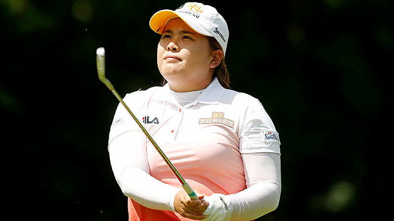 Seeking her fourth victory of the year -- and second major -- Inbee Park takes the lead with her second straight 68.