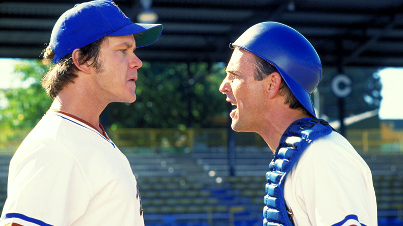 With amusing baseball banter and great dialogue throughout, Bull Durham is considered one of the best sports movies ever.