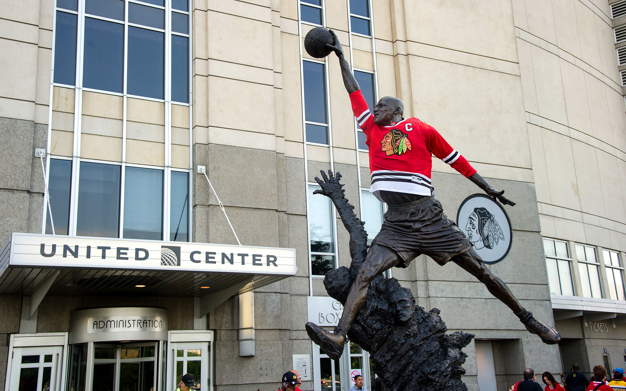 Michael Jordan, Blackhawks fan