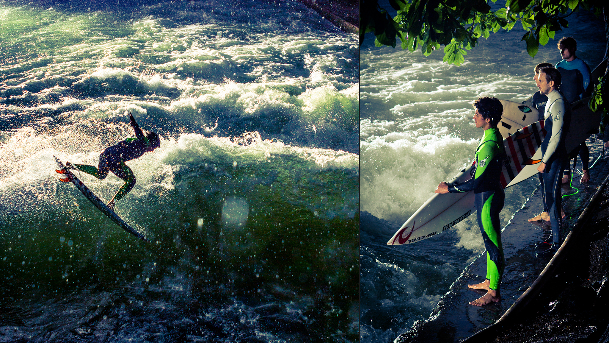 The Eisbach River, Munich