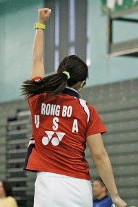 Bo Rong began playing badminton at age 8 and has continued her career in the United States.