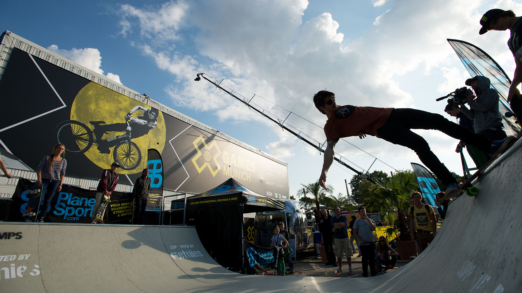 X Games Munich fans have been enjoying a special, expanded version of the usual X Fest space at this event, with a Cultural Village offering skate and BMX demos, live mural painting and even tattooing on site.