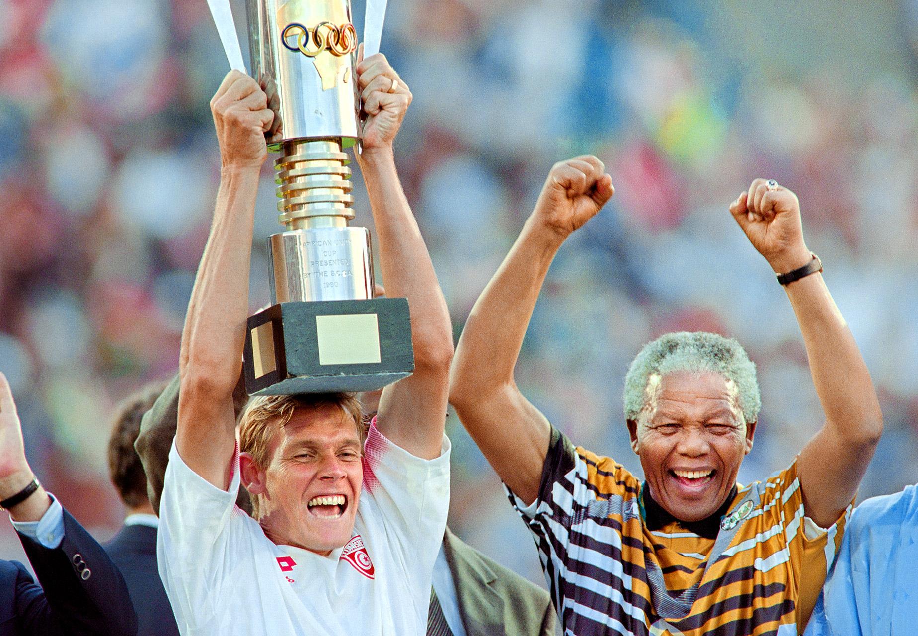 Neil Tovey and Nelson Mandela