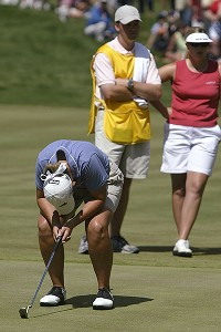 Angela Stanford has had close calls in the Women's Open, including a loss to Hilary Lunke in a playoff in 2003.