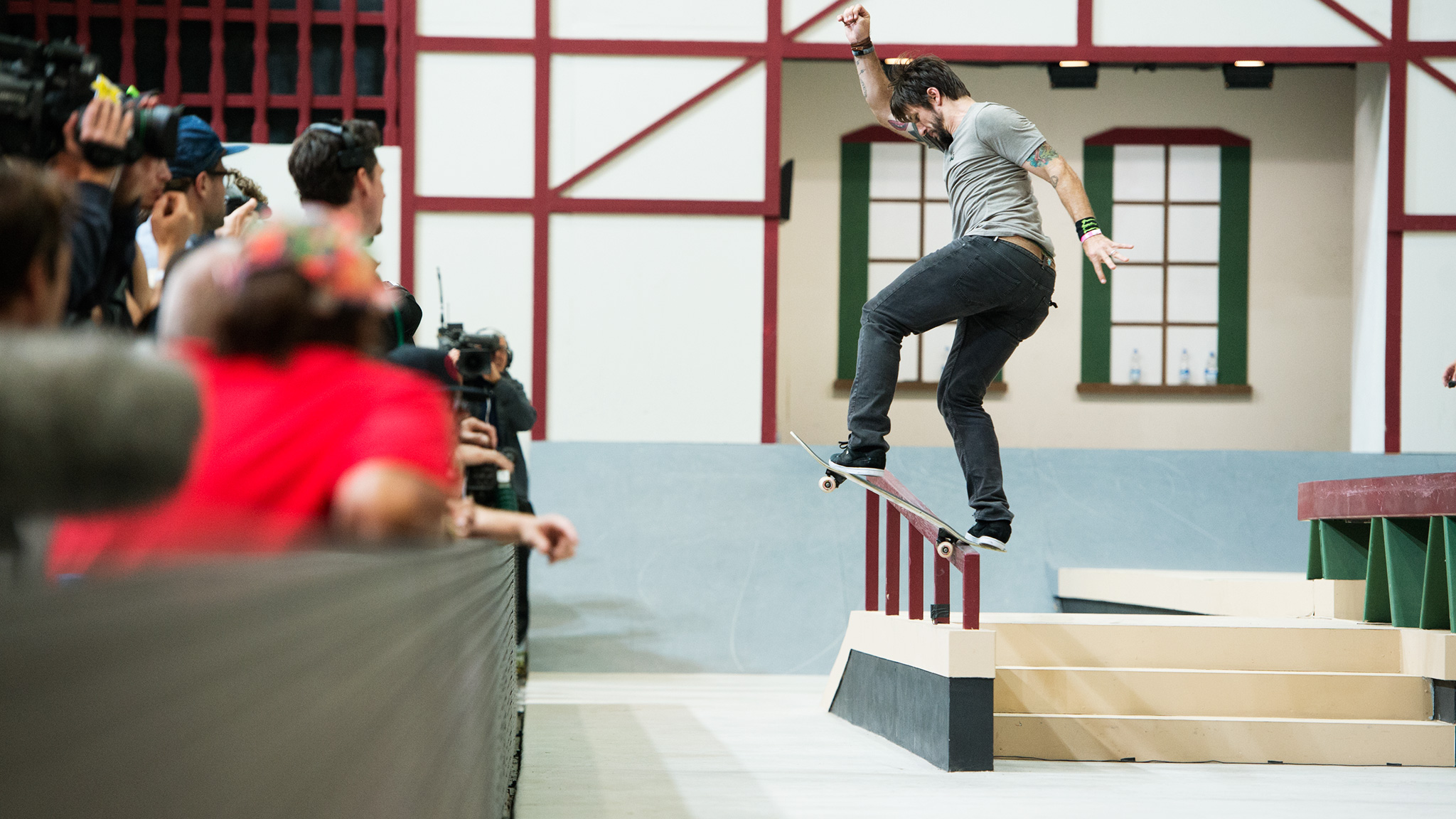 Chris Cole won his first Street League and fourth gold medal at X Games by besting Paul Rodriguez on his final run. Cole ended the competition with a picture perfect 360 flip 50-50 grind down the Hubba ledge.