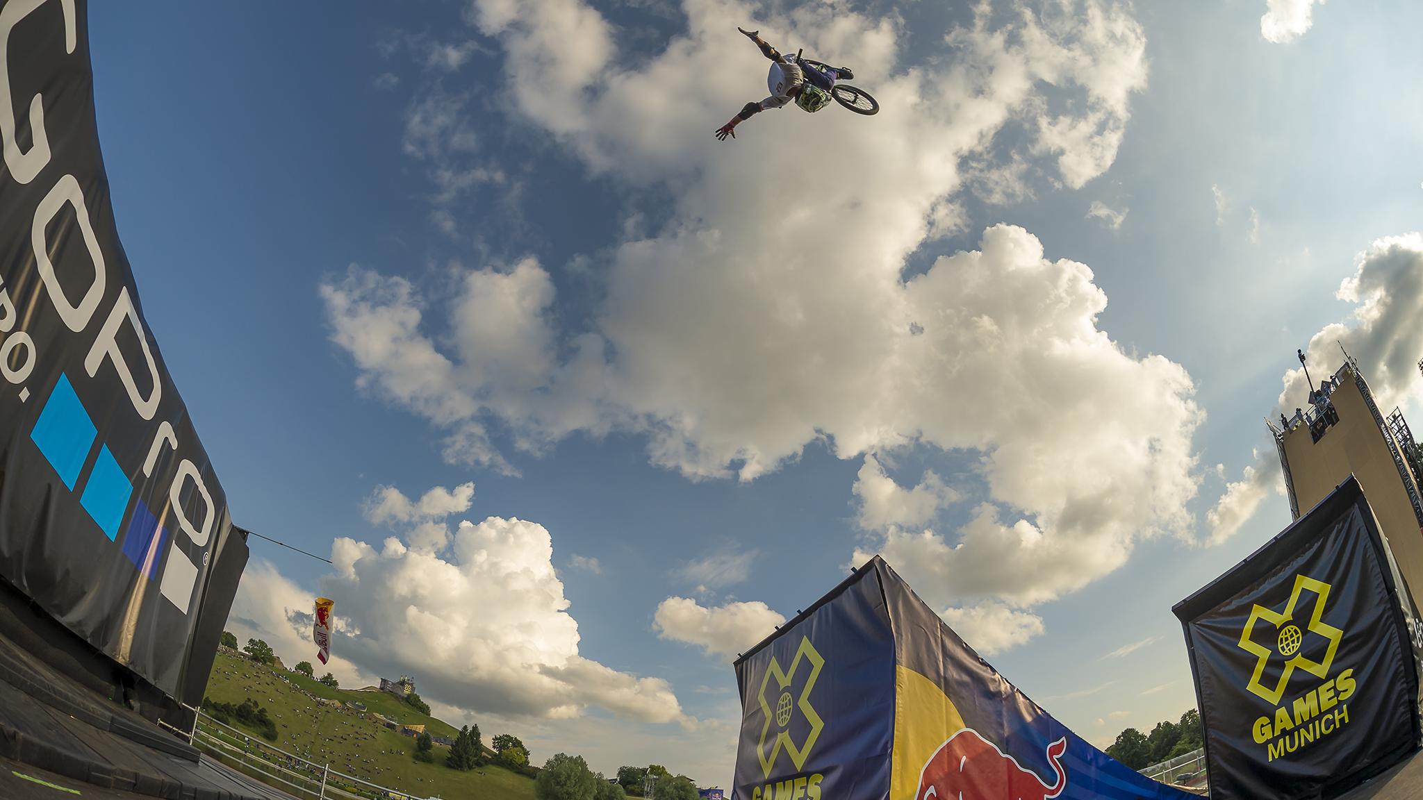 Andy Buckworth's no-handed double front flip