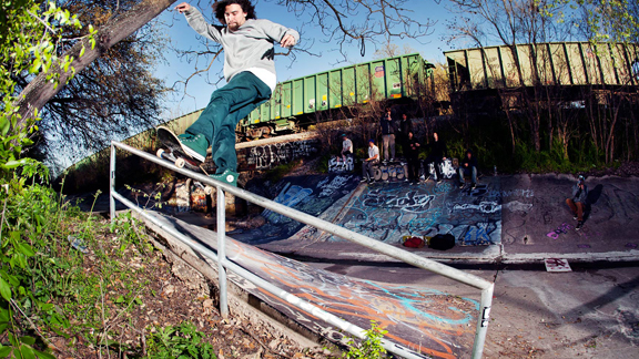 Sammy Baca, who competed at X Games LA in 2010, skates the Five Hip ditch in Austin. The city is one of four finalists that will host an X Games event in 2014.