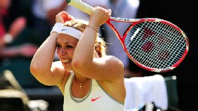 Sabine Lisicki came back from a 3-0 deficit in the third set to advance to the Wimbledon final.
