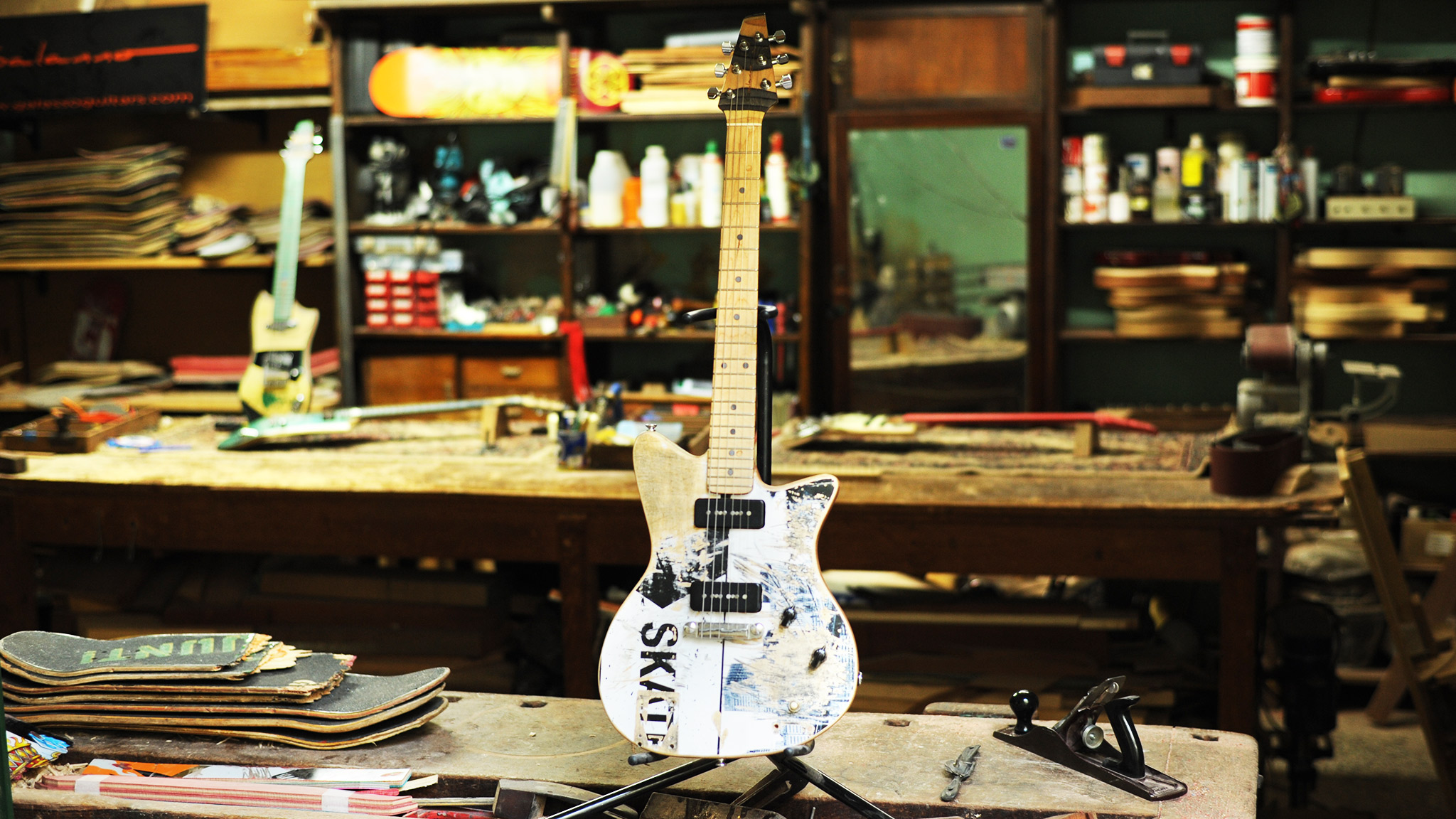 Mike McCready's Skate Guitar