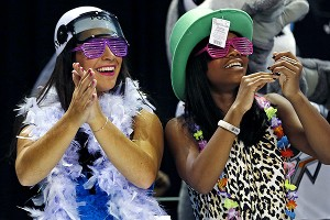 London teammates Gabby Douglas and Aly Raisman performed the Harlem Shake at the American Cup in March.