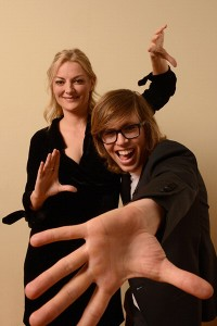 Director Lucy Walker with Kevin Pearce at the premiere of the film at Sundance this year.